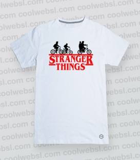 CAMISETA MANGA CORTA BICIS STRANGER THINGS
