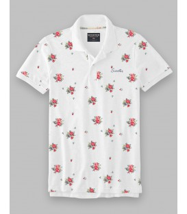 Polo con estampado floral en toda la prenda de Scooter Addiction
