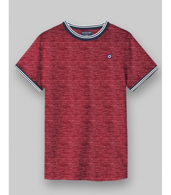 Camiseta de piqué con ribetes y logo pequeño de Scooter Addiction