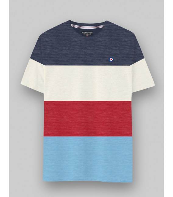 Camiseta Color Block de Scooter Addiction