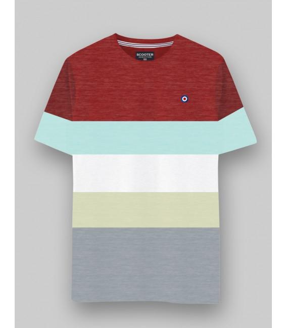 Camiseta a rayas de Scooter Addiction